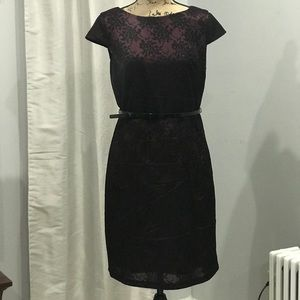 ALYX lace overlay belted cap sleeve dress size 10